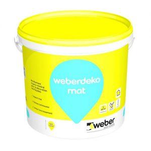 Weberdeko mat - Revêtement organo-minéral pour la décoration des façades, 4 litres
