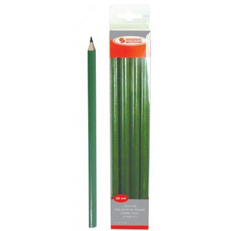 Crayon tailleur de pierre vernis vert 12 pièces Taliaplast