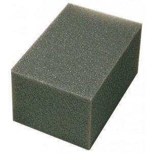 Éponge synthétique gris anthracite 150 X 100 X 80 mm Taliaplast