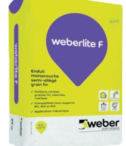 weber.pral F - Enduit coloré d'imperméabilisation et de décoration des façades
